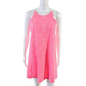 EUC Love Ady Pink Lace Overlay Dress Size Medium